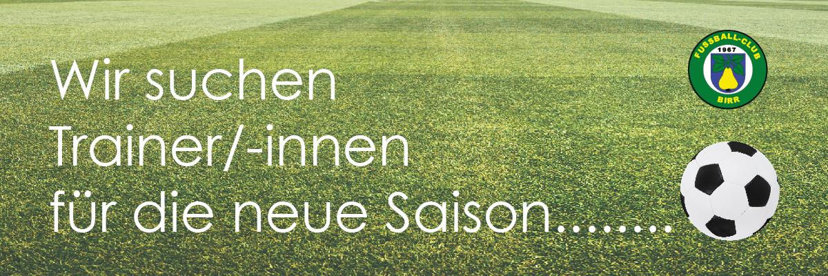 FC Birr sucht Trainer/-innen für die neue Saison